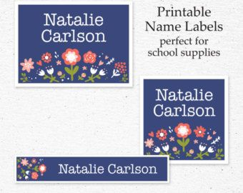 Items similar to Personalized School Supply Labels, Custom Name Tag, Back To School Stickers, Printable name tag, Printable label, princess, descendants, on Etsy