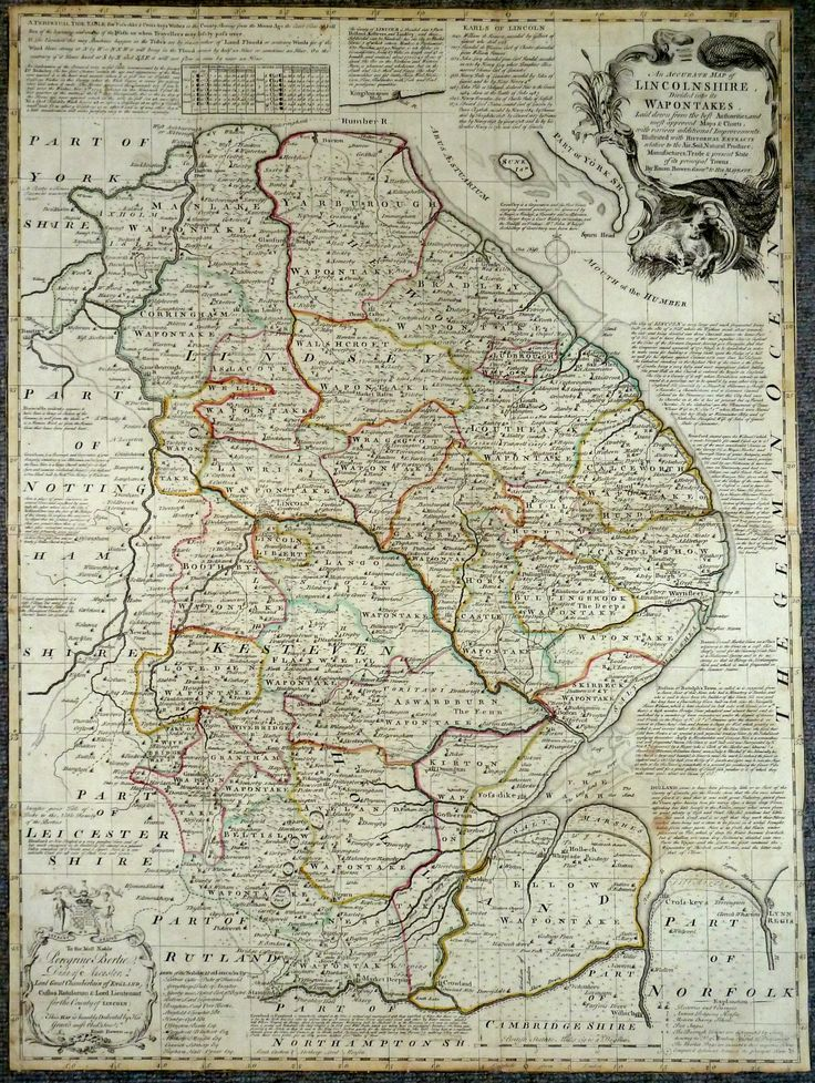 Lincolnshire Antique Maps Old Maps of Lincolnshire