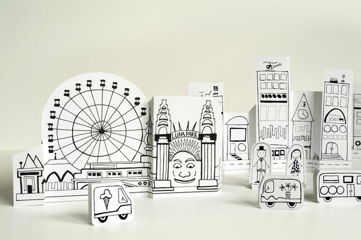Made by Joel, Paper City Sydney Luna Park- free printable
