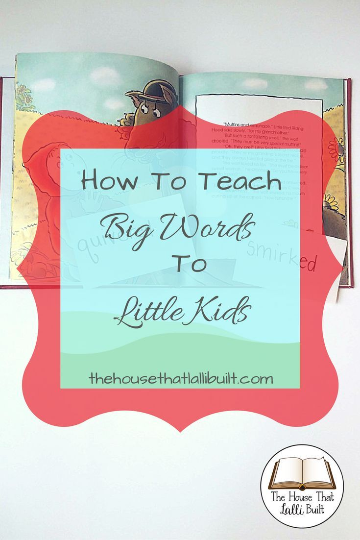 A simple way to encourage little kids to learn high vocabulary words when being read to.