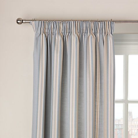 Buy John Lewis Alban Stripe Lined Pencil Pleat Curtains Online at johnlewis.com