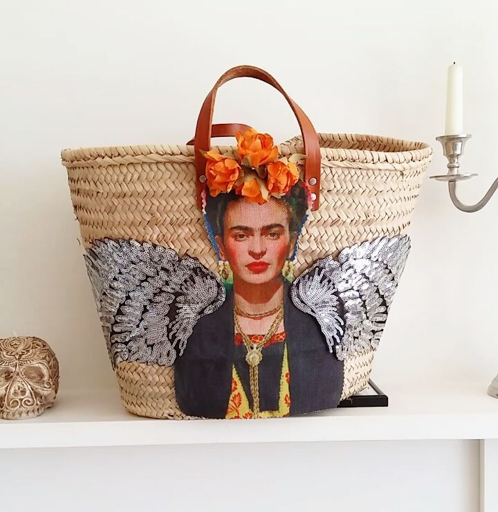 To order a Viva Frida straw bag like this visit my Etsy shop BrightonBabe or contact me on FB