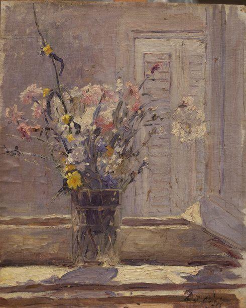 Pinacoteca Comunale di Faenz  FILIPPO DE PISIS (1896–1956)  Fiori in controluce  Olio su tela, cm. 43,5 x 35,5a