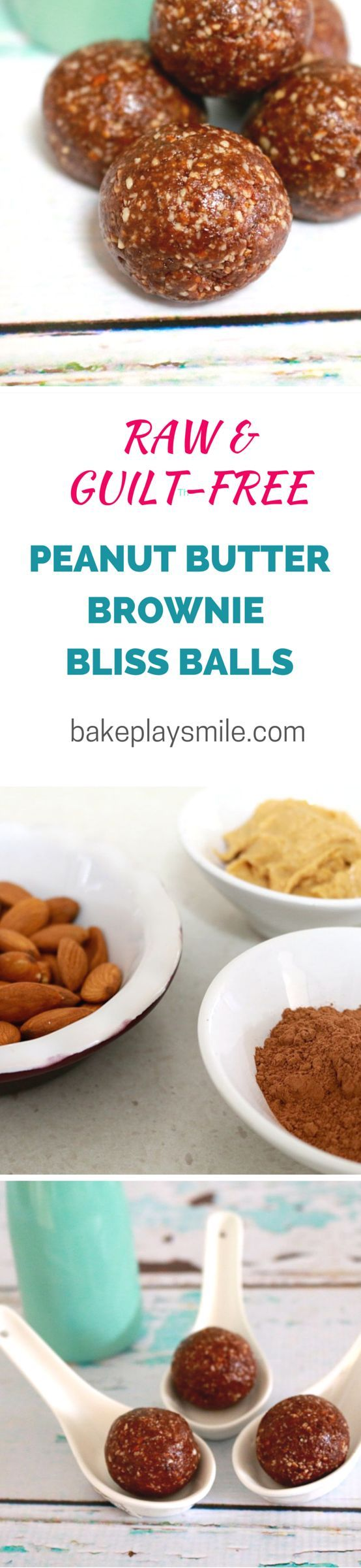 This is my favourite bliss ball recipe of all-time. It tastes just like a peanut butter brownie... but it's totally healthy!