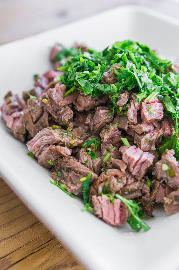 Carne Asada - Steak marinated in lime juice and spices.