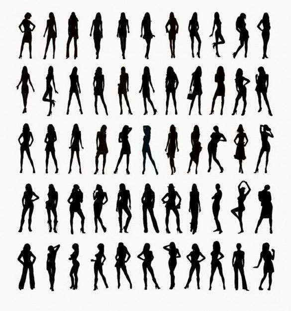 Woman Silhouette Vector Free Download