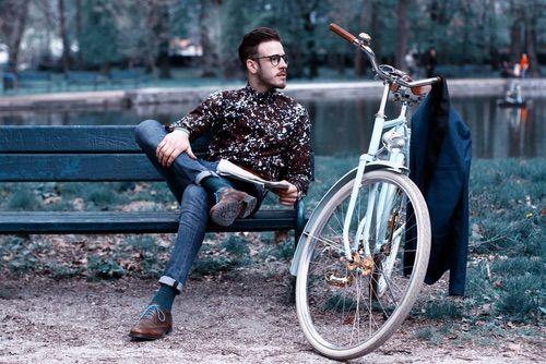Egriders retro fashion bicycle vintage bike beard man #egriders #retro #vintage #bike #bicycle #beardman