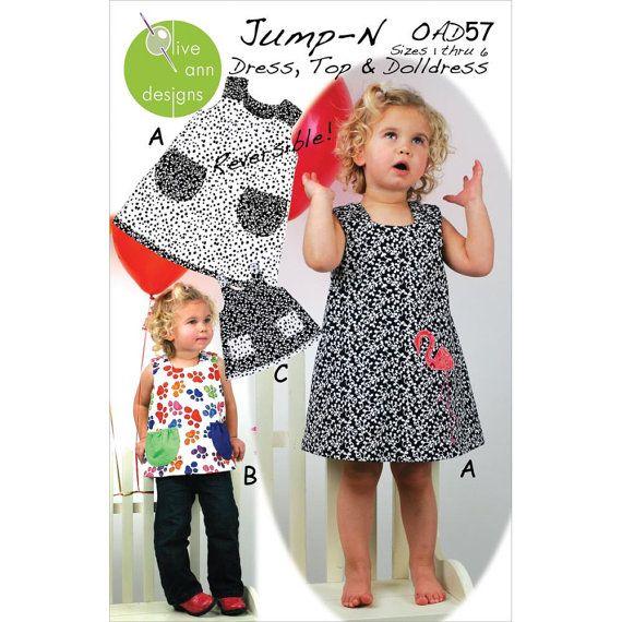 #JumpN #Dress #Top and #Doll #Dress #Pattern size by GabbysQuiltsNSupply, $9.50