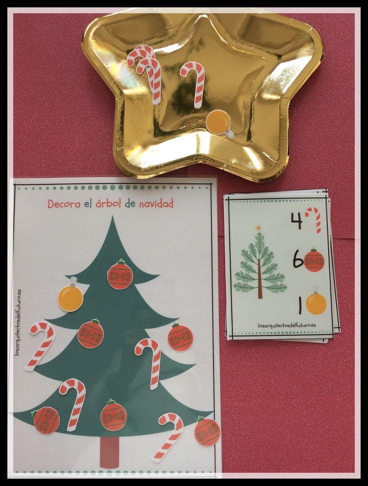 Decora el árbol de navidad con un montón de elementos decorativos, aprenderás jugando mediante el conteo.