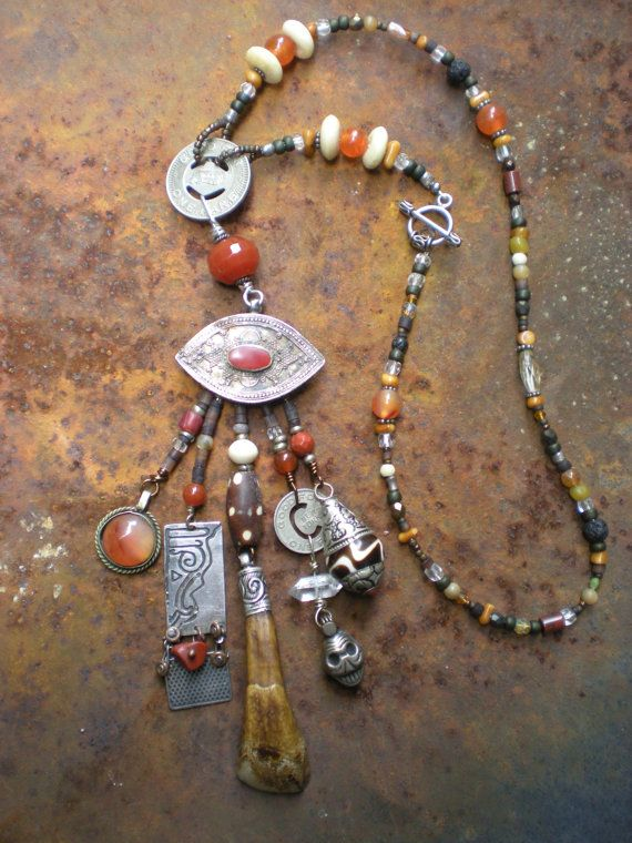 Protective Eye Amulet Necklace by maggiezees on Etsy, $120.00