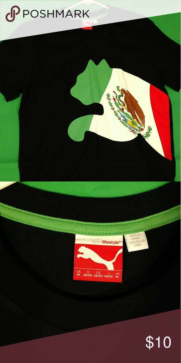 Puma lifestyle Mexico Shirt Black Mexico puma lifestyle shirt Puma Shirts Tees - Short Sleeve