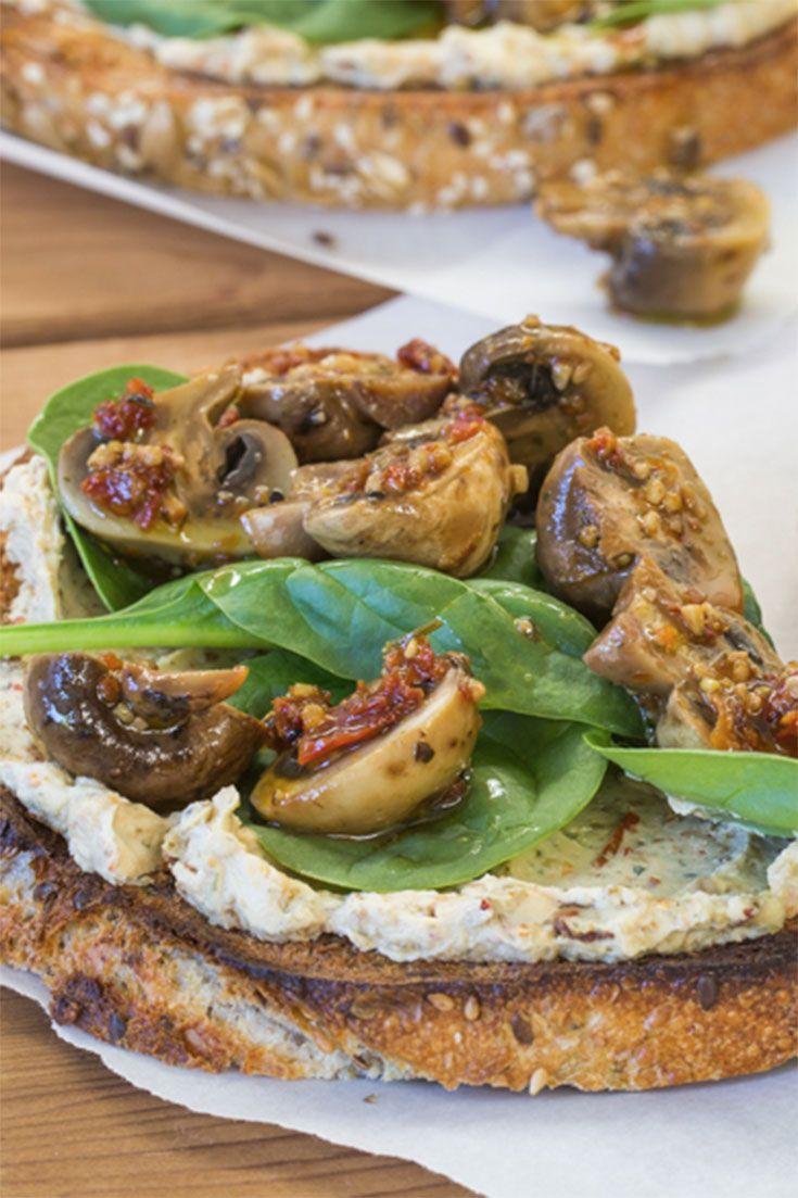 Mushroom & Pepper Tartine: A tartine is an elegantly topped, open-faced French sandwich.