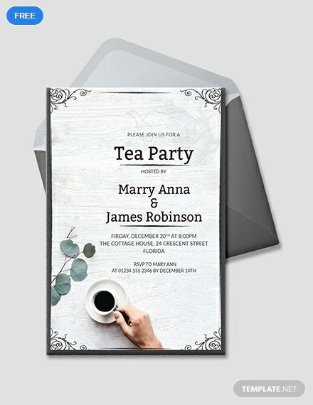 Free Elegant Tea Party Invitation Printable Party Invitation