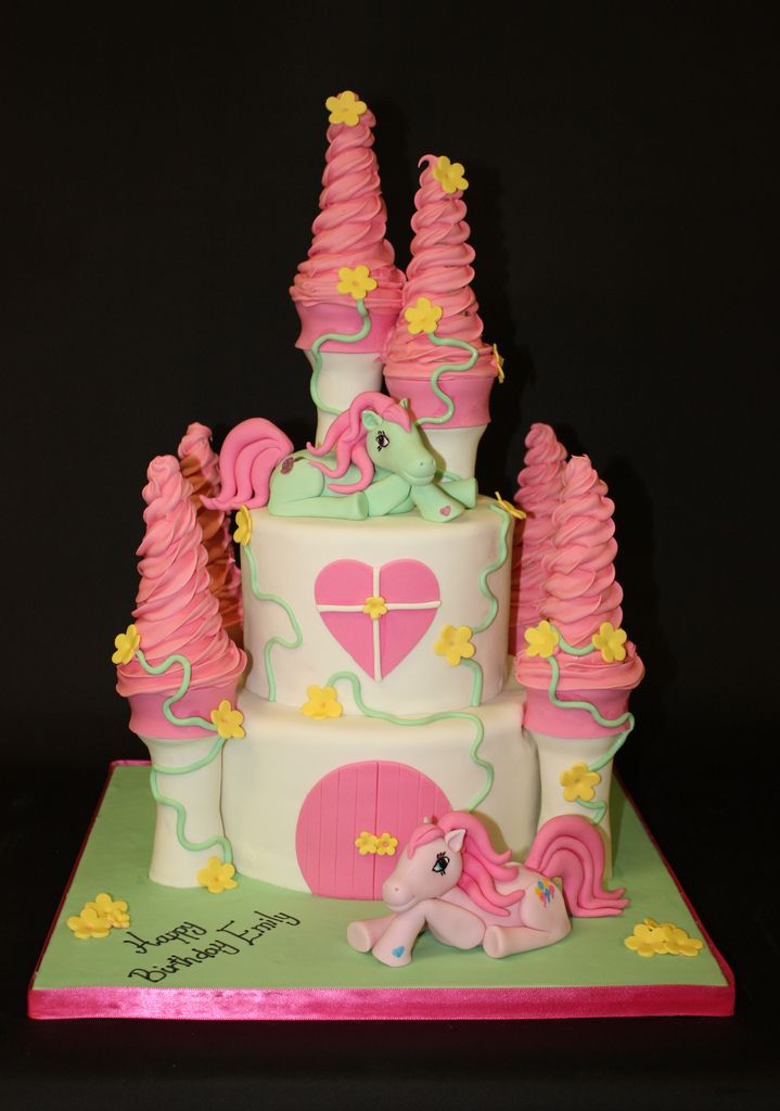 how to make a my little pony castle cake
