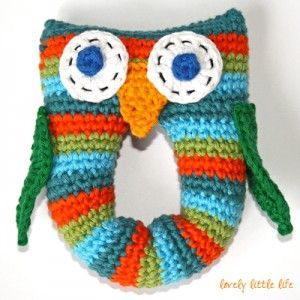 Will someone make one of these for my future baby?? Owl Rattle Crochet Pattern