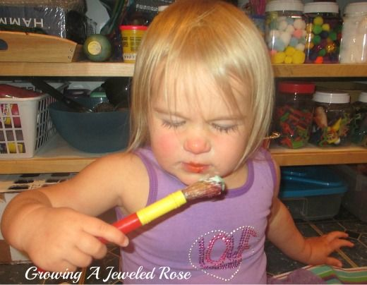 Sensory Painting with Kool-aid | Growing A Jeweled Rose