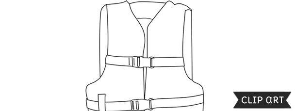 Life Jacket Template Clipart Life Jacket Clip Art Templates