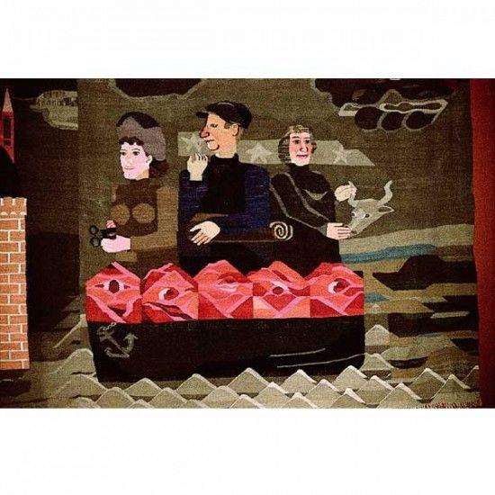 """Hannah Ryggen / absolutetapestry.com """"6 oktober 1942"""" - 1942 (6 October 1942) 170x420 cm"""