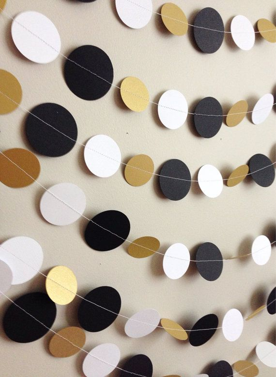 8 yards Black White ans Gold Party Wedding by CharminglyKristin
