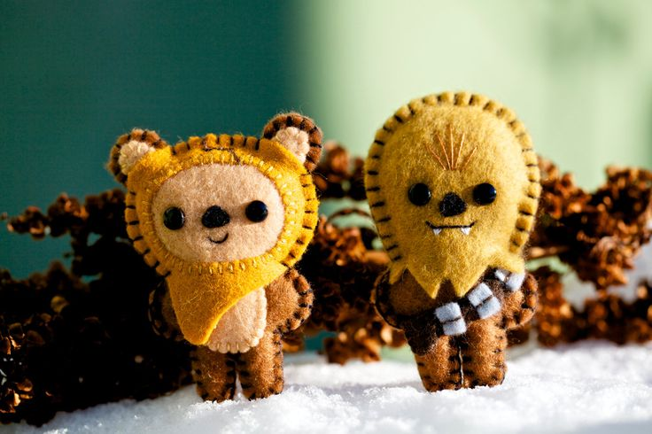 Felt Chewbacca and Wicket - Pocket Plush Toys
