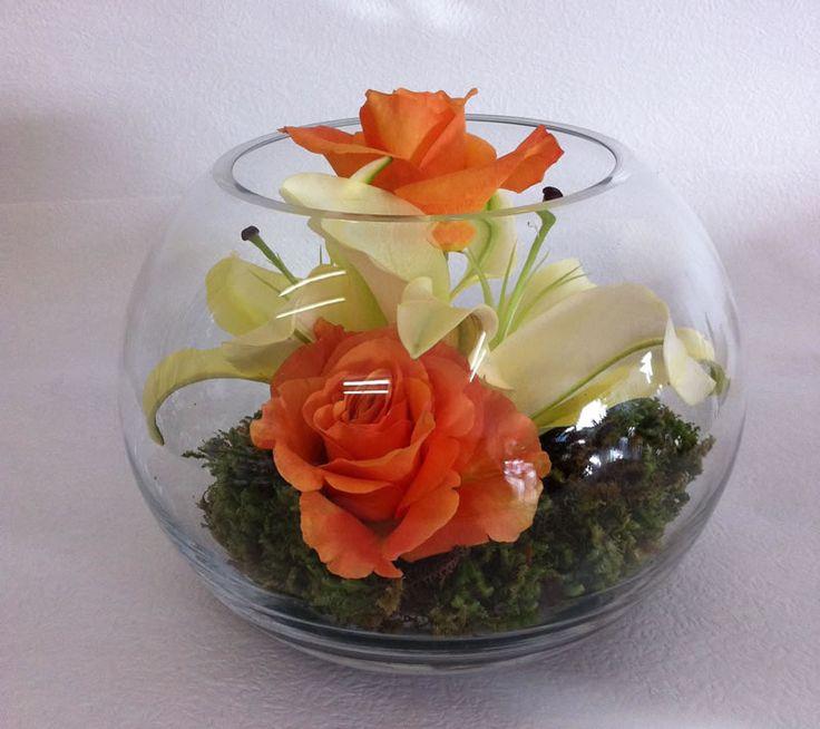 Fish Bowl Flower Arrangements