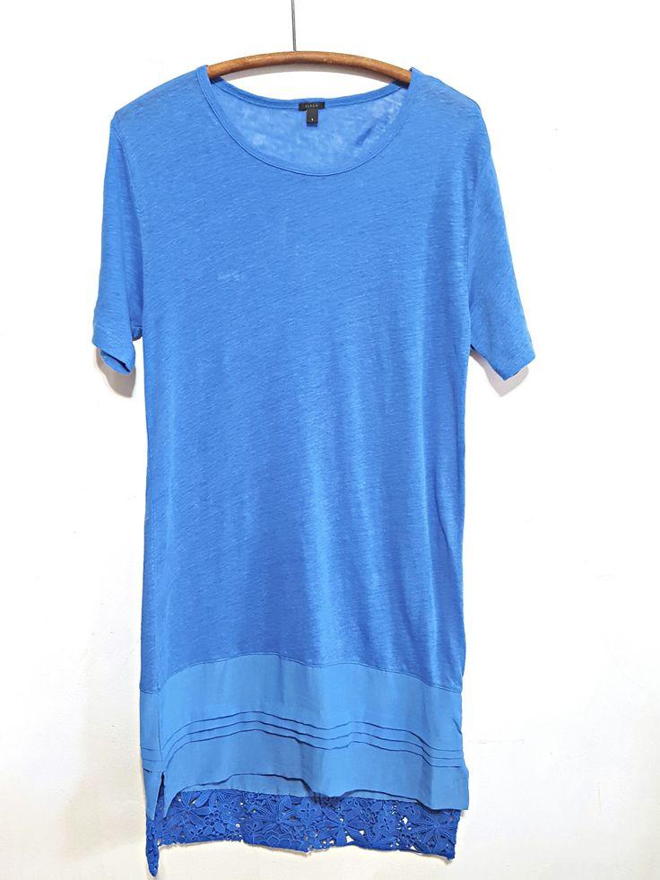 J.Crew Linen/Silk T Shirt Dress sz. S
