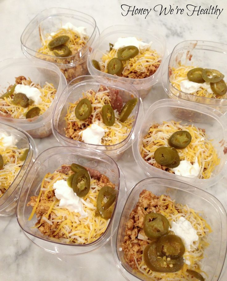 Honey We're Healthy: Tex Mex To Go (Portion out your servings for a quick…
