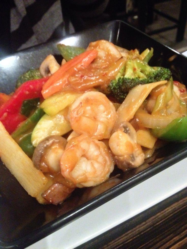 Spicy Satay Shrimp Toi Restaurant & Tapas Bar, 12 Queen Street, Downtown St. Catharines  http://www.toirestaurant.com/ (Mar/15)