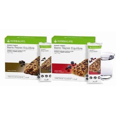 Barre repas équilibre Formula 1 Baie Rouge et Yaourt (2 boites = 2×7 barres de 56g) et Chocolat (2 boites =2×7 barres de 56g): Herbalife a…