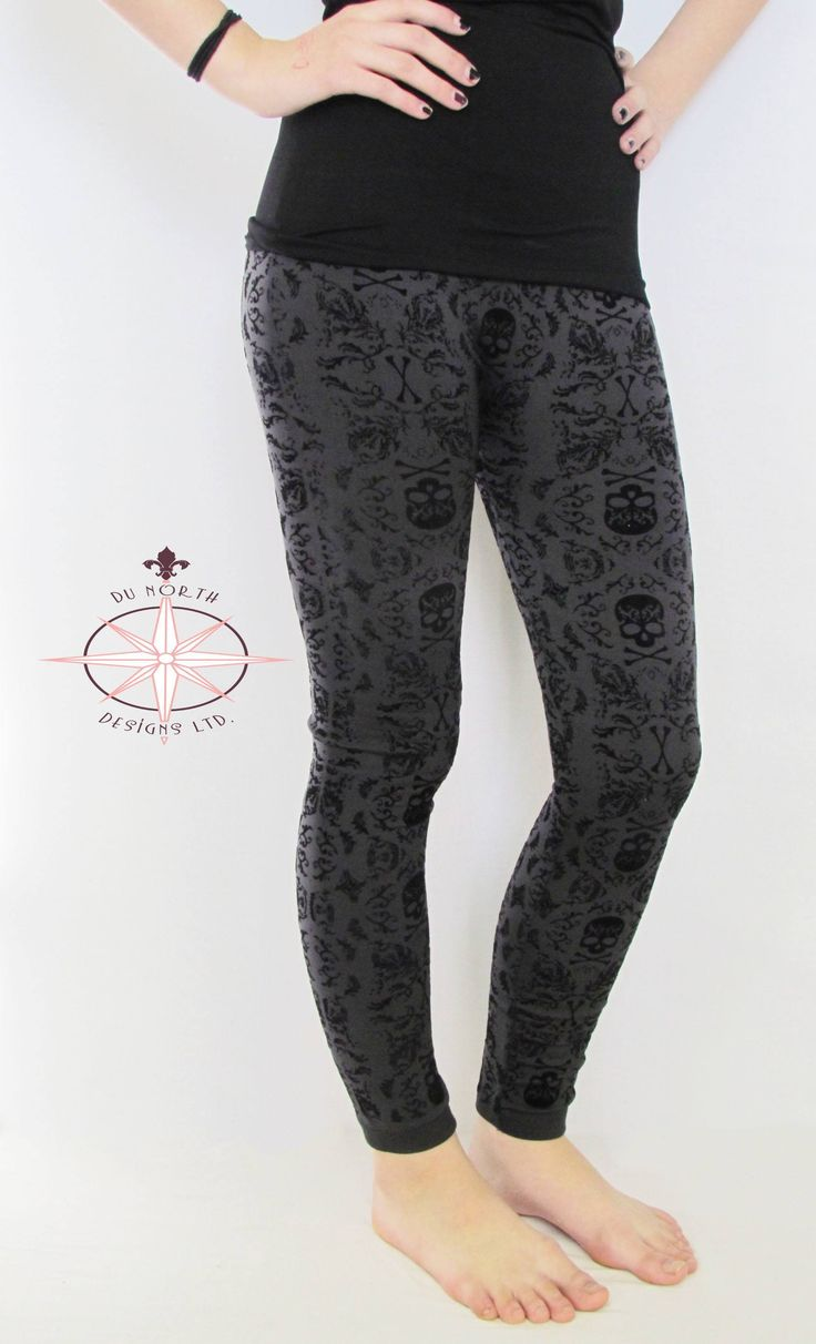 All Hallows Christmas Eve Charcoal Winter Leggings *2 Size Options* - Du North Designs