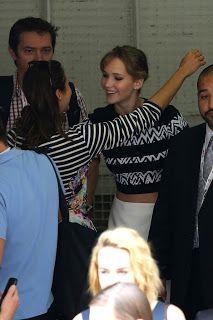 Jennifer Lawrence Fansite: Jennifer Lawrence and Nina Dobrev hug it out at Comic Con