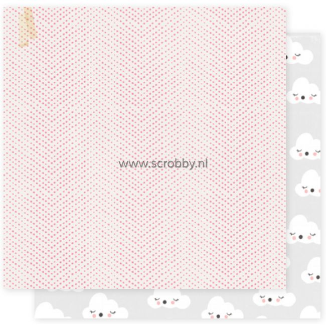 Crate Paper Little You Girl double sided cardstock Counting Sheep