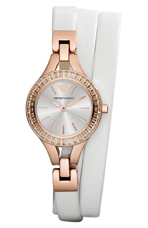 Arm candy! White wrap strap watch | Emporio Armani