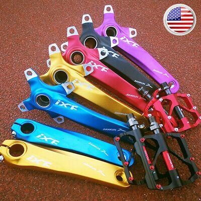 104//64bcd Crankset Pedal Mountain Road Bike Single//Double//Triple Chainring Crank
