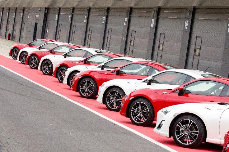 GT86 line-up, front quarter