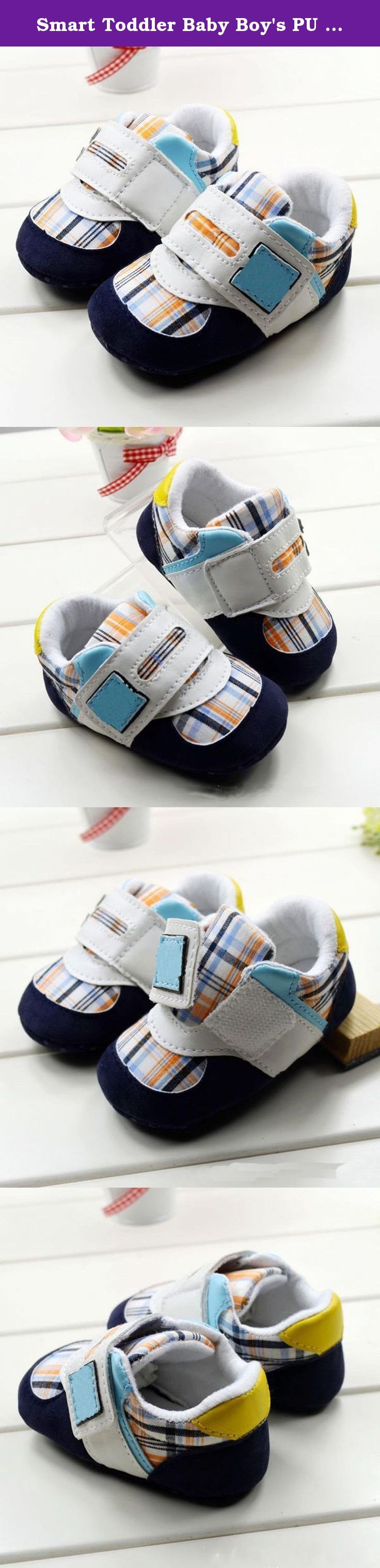 """Smart Toddler Baby Boy's PU Leather Plaid Crib Prewalker Shoes 0-18M. Smart Infant Baby Boys White PU Leather Sport First Walker Shoes 0-18M Material: Cotton Blend+PU Leather Style: Daily Color: Red,Dark Blue Size: Fit For 0-18 Months Baby Net Weight: (Approx) 60-70g Item Includes:1 Pair Baby Sport Shoes 1 inch =2.54cm Asian Size: S--Recommend Age: 0-6 Months,Sole Length:11.3cm/4.44"""", Sole Width:5.5cm/2.16"""",Shoes Hight:3.5cm / 1.37"""" M--Recommend Age:6-12 Months,Sole Length:12.2cm / 4.80""""..."""