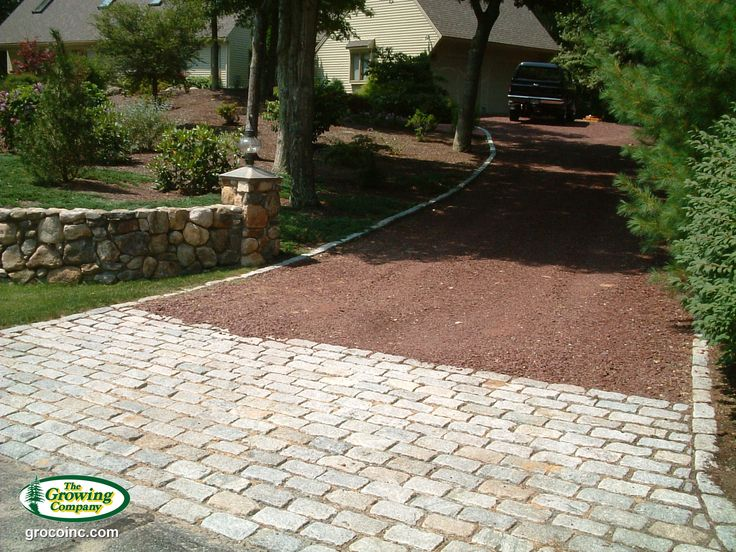 15 best cobblestones alternatives images on pinterest for Driveway apron ideas