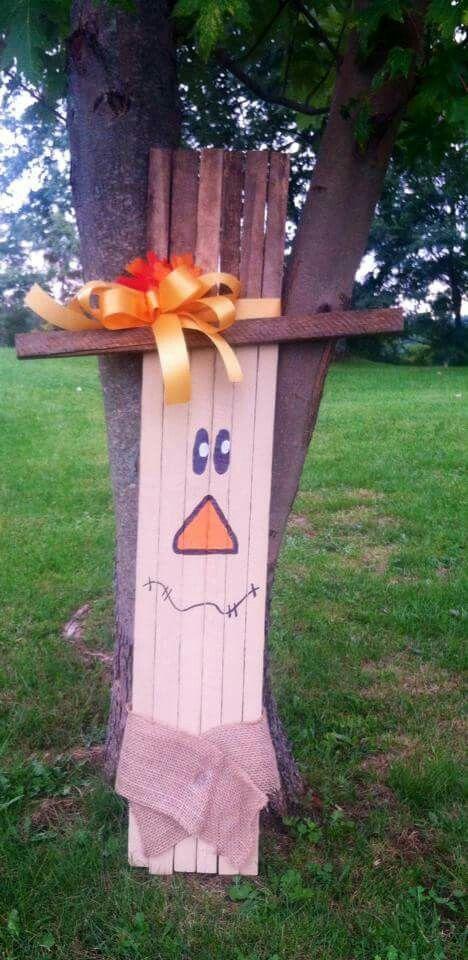 DIY Tobacco stick scarecrow
