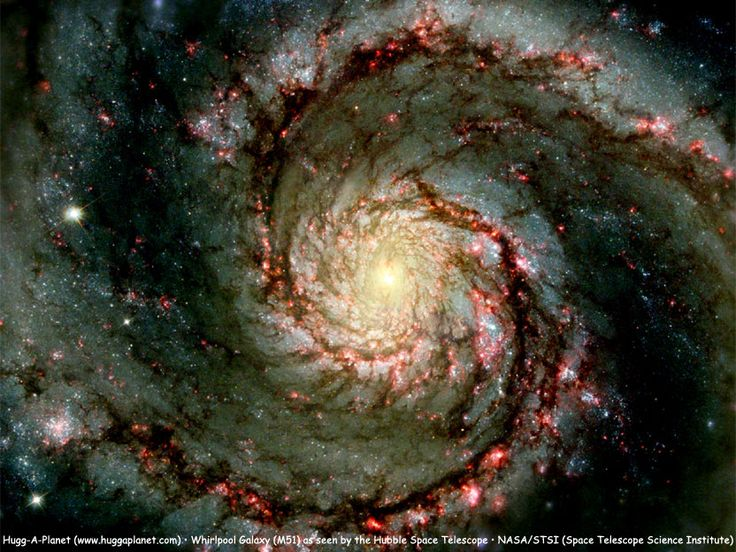 Whirlpool galaxy (M51), about 23 million light-years away. Our own Milky Way galaxy would probably look a lot like this, if we could actually view it from outside.