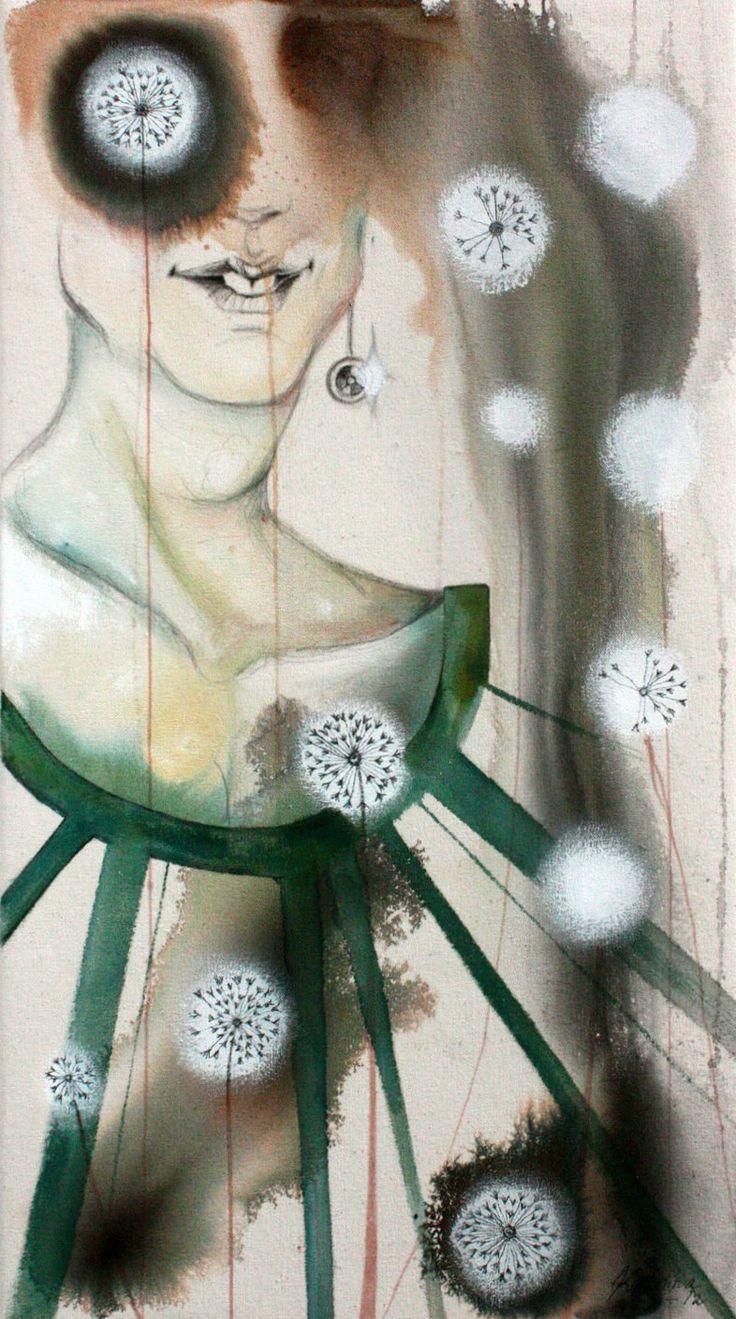 Syntymäpäivä 2012 (Birthday) Acrylic, markers, ink, pencil on cotton duck