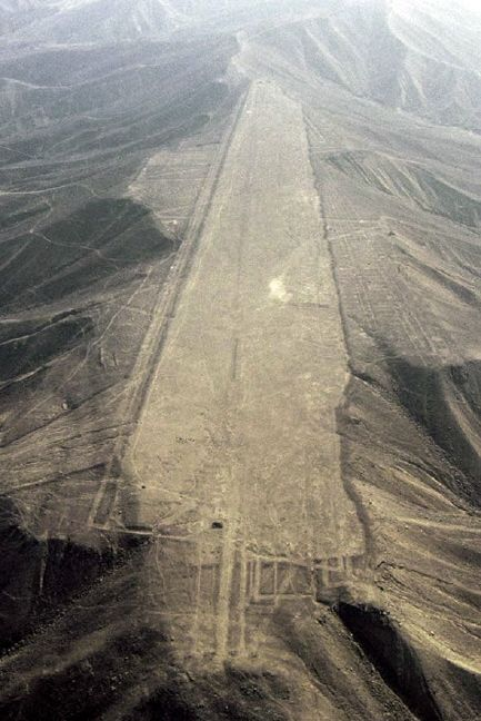 the most mysterious of the Nazca Lines in the Nazca Desert of Southern Peru...Is that a runway??: