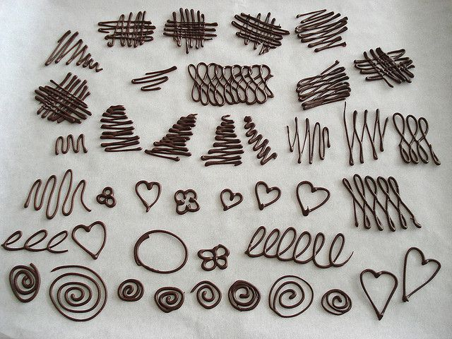 Piping Chocolate Decorations by marcelo.barth, via Flickr