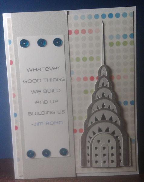 Chrysler Building card by jalapenette @2peasinabucket
