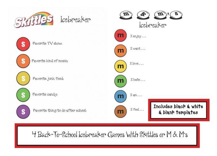 M & M's or Skittles Icebreaker Games