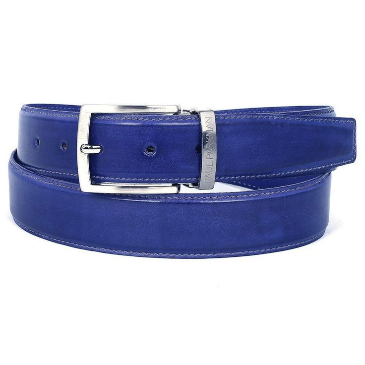 PAUL PARKMAN Men's Leather Belt Hand-Painted Cobalt Blue (ID#B01-BLU)  #Fashion #style #men #menswear #mensfashion #summer #menstyle #menstyle #menslifestyle  #mensgear #tfdr #blackfriday #menshoe