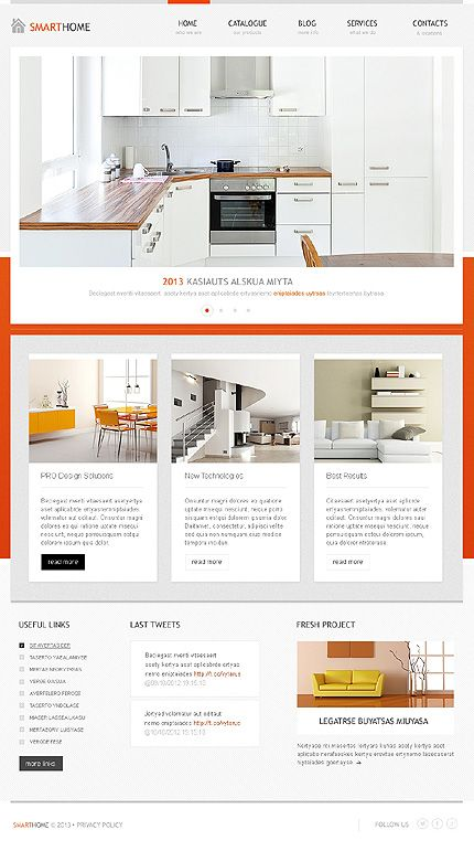 Template 42803 - Interior Design WordPress Theme
