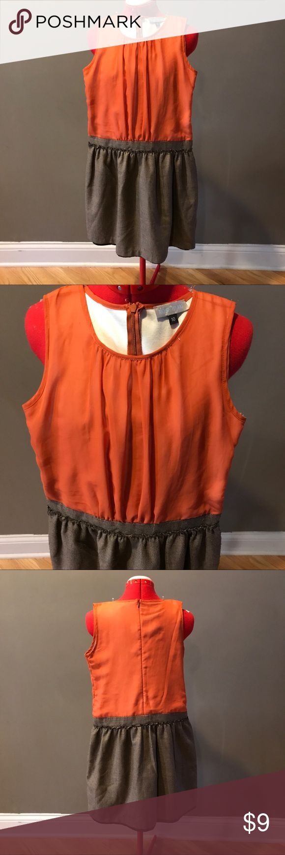Kids Orange & Brown Mini Dress Kids Orange & Brown Mini Dress Rose Bleu  Dresses Formal