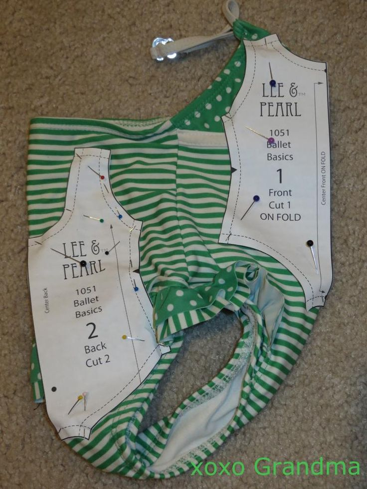 "Summertime Clothing for American Girl Doll - refashion a toddler swimsuit into a doll swimsuit, using the ruffles and everything. Lee & Pearl Pattern 1010: Ballet Basics Leotard and Unitard for 18"" Dolls is available as a FREE gift to anyone who joins the L&P mailing list at www.leeandpearl.com"