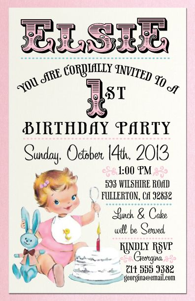 vintage birthday invitations