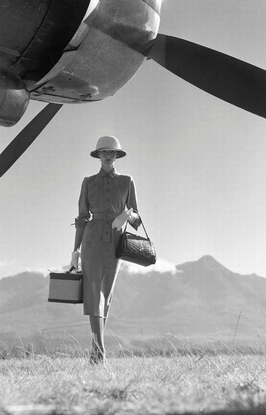 Vogue 1951 The Art of Travel' - 1949 - Photo by Norman Parkinson                                                                                                                                                      More